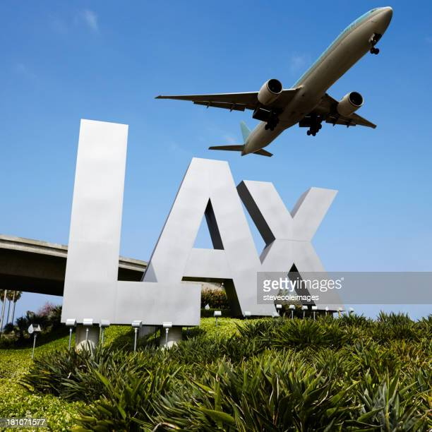 lax sign - lax airport stock pictures, royalty-free photos & images