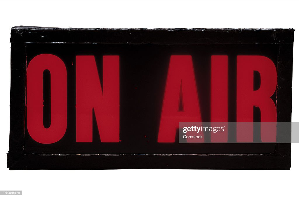 ON AIR sign : Stock Photo