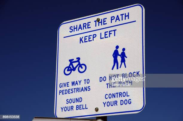 SHARE THE PATH sign