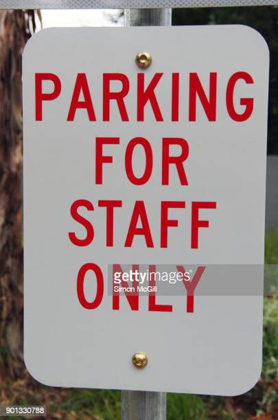 PARKING FOR STAFF ONLY sign