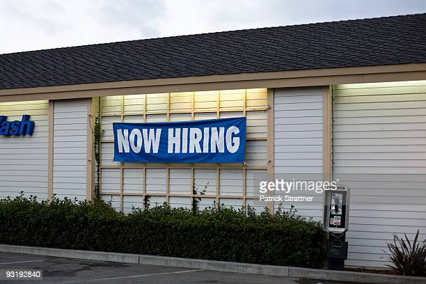 a now hiring sign - help wanted sign stock photos and pictures