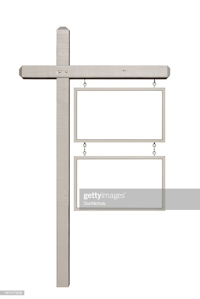 Sign Post with Blank Signs : Stock Photo