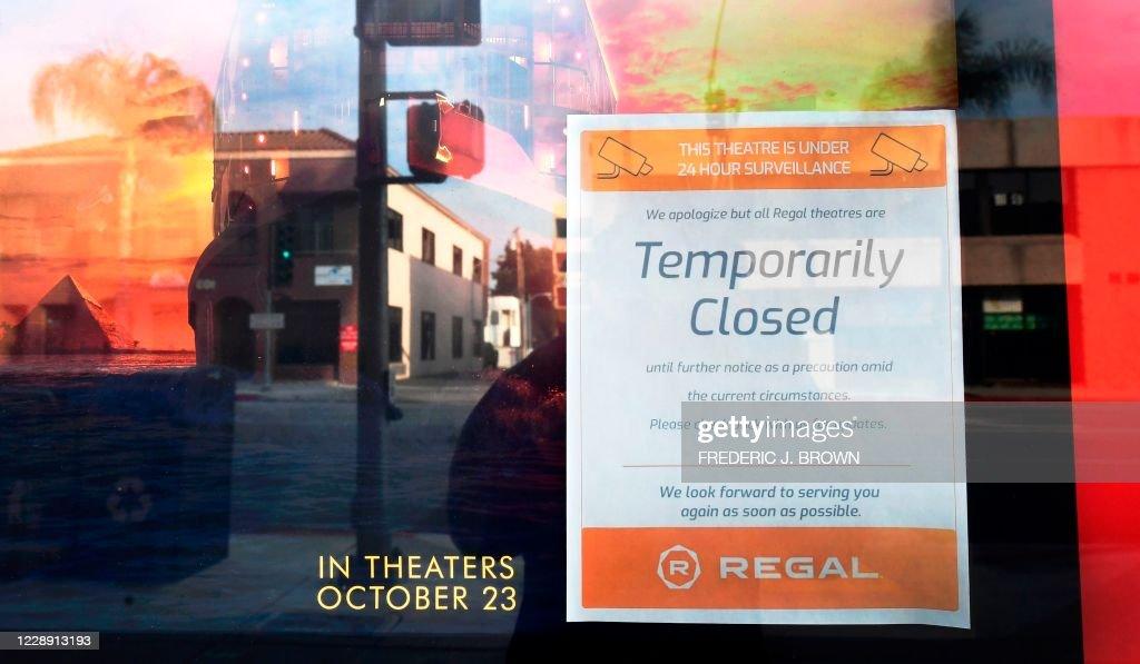 US-HEALTH-VIRUS-CINEMAS : ニュース写真