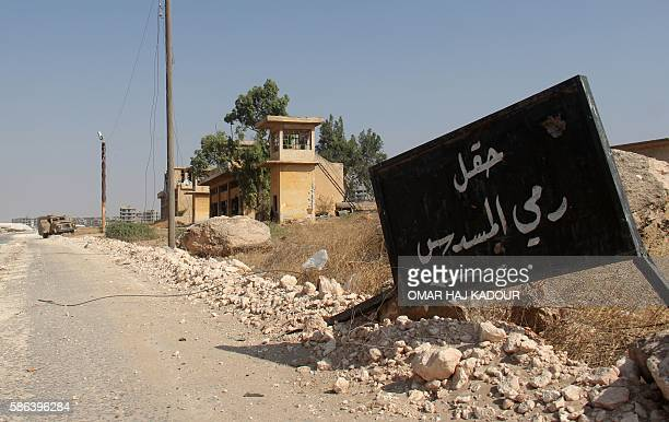 Shooting range is seen at a military academy south of Aleppo after the former AlNusra Front renamed Jabhat Fateh alSham after breaking from AlQaeda...