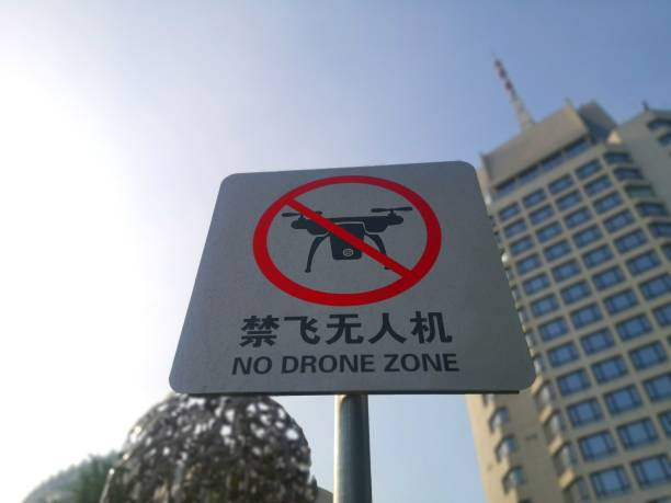 CHN: 'No Drone Zone' Sign In Beijing