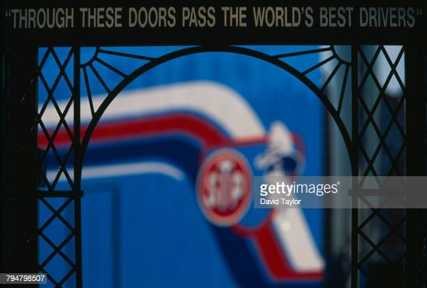 'Through These Doors Pass The World's Best Drivers' over a gateway at Charlotte Motor Speedway Concord North Carolina 5th October 1997