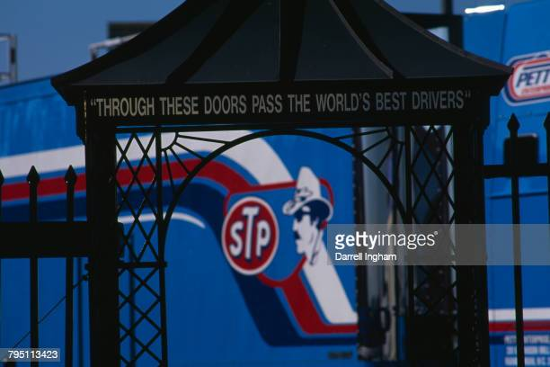 'Through These Doors Pass The World's Best Drivers' over a gateway at Charlotte Motor Speedway Concord North Carolina 3rd October 1997 In the...