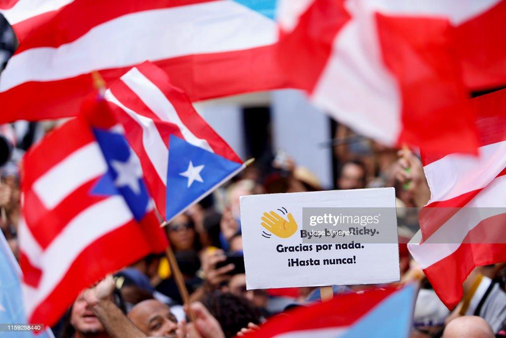 Puerto Rico Prepares For Leadership Change As Embattled Gov. Rossello Resigns : News Photo