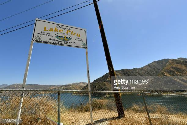 A sign reads Welcome to Lake Piru Recreation Area at Lake Piru where actress Naya Rivera was reported missing Wednesday on July 9 2020 in Piru...