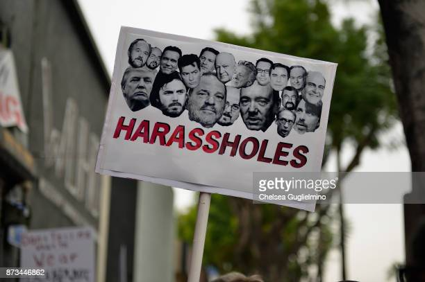 A sign seen at the Take Back The Workplace March and #MeToo Survivors March Rally on November 12 2017 in Hollywood California