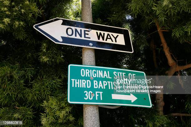 Sign showing where the church is .;The original site of third Baptist church the first African American Baptist Church west of the rocky mountains....