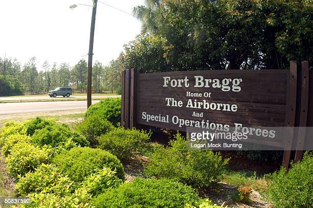 A sign shows Fort Bragg information May 13 2004 in Fayettville North Carolina The 82d Airborne Division was assigned here in 1946 upon its return...