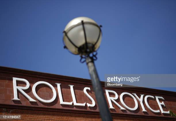 Sign sits on a former Rolls-Royce Holdings Plc facility that was the birthplace of the Silver Ghost and Merlin aero engine, in Derby, U.K., on...