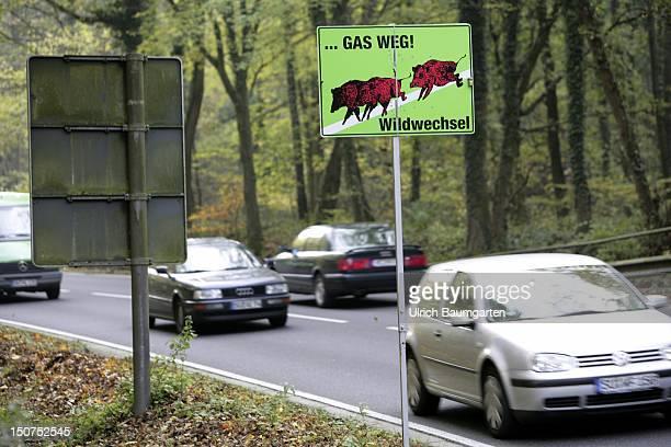 GERMANY BONN Sign Slow down