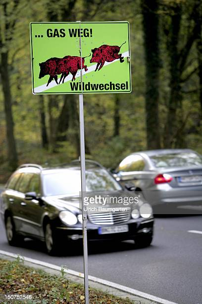 GERMANY BONN Sign Slow down