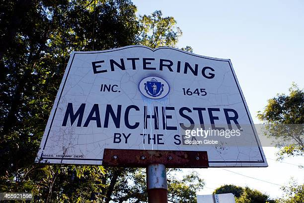 A sign spelled without hyphens is seen at the other end of Route 127 in Manchesterbythesea Massachusetts September 17 2014