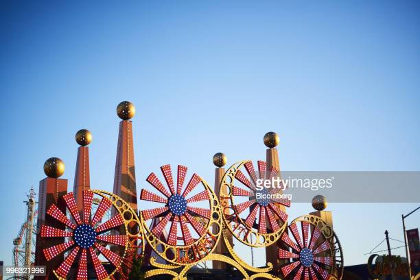 A sign stands at the entrance of Luna Park at Coney Island in the Brooklyn Borough of New York US on Saturday July 7 2018 Bloomberg is scheduled to...