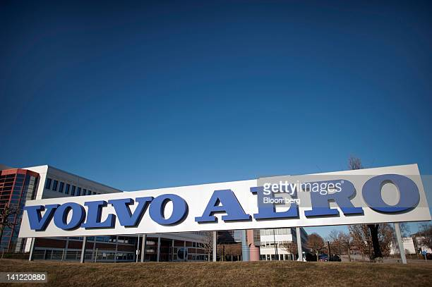 A sign stands at the entrance to the Volvo Aero factory a division of Volvo AB in Trollhaettan Sweden on Monday March 12 2012 GKN Plc a British maker...