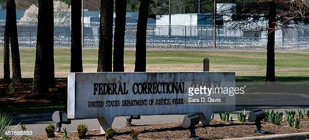 Sign stands at the U.S. The Federal Bureau of Prisons Correctional Complex, where convicted Israeli spy Jonathan J. Pollard is housed, on April 1,...