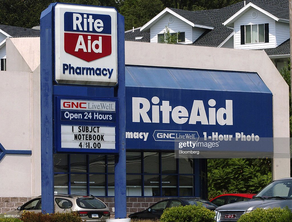 A sign stands outside a Rite-Aid pharmacy in Camp Hill, Penn : News Photo