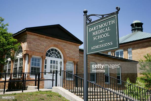 A sign stands outside the Dartmouth Medical School admissions office on the campus of Dartmouth College the smallest school in the Ivy League in...