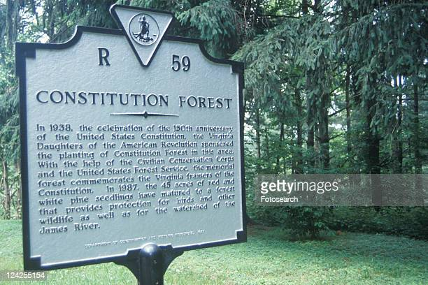 A sign that reads ôConstitution Forestö