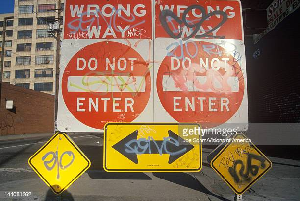 """Sign that reads """"Do not enter, wrong way"""""""