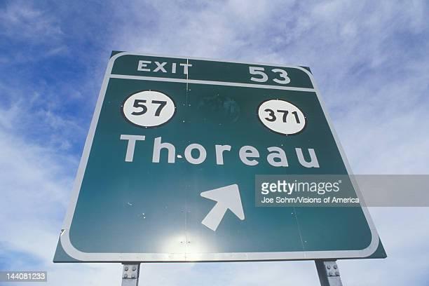 A sign that reads 'Thoreau'
