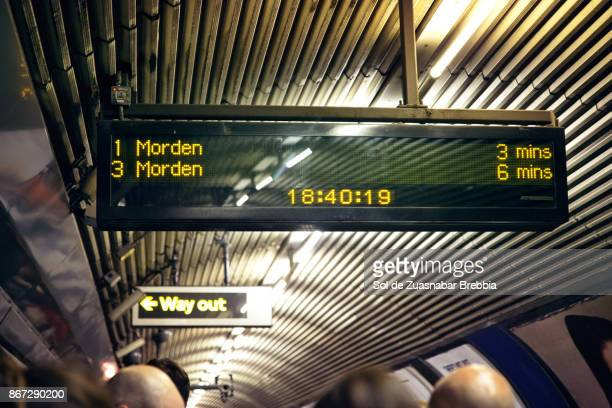 sign. underground. rush hour. - underground sign stock pictures, royalty-free photos & images