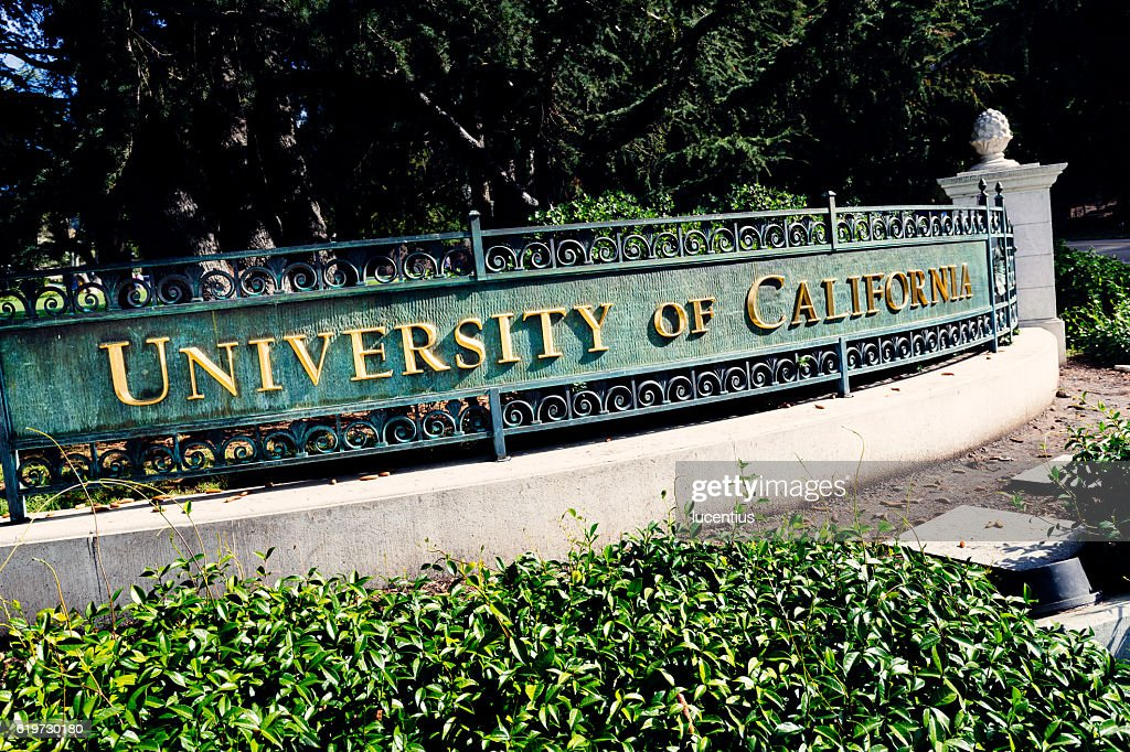 Sign, University of California at Berkeley : Stock Photo