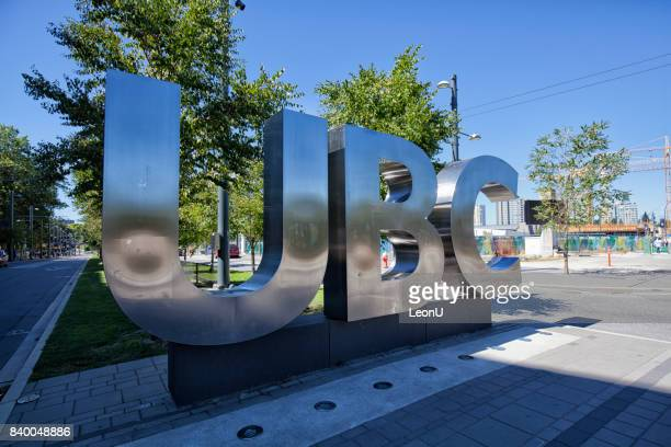 ubc sign, vancouver, canada - ubc stock pictures, royalty-free photos & images