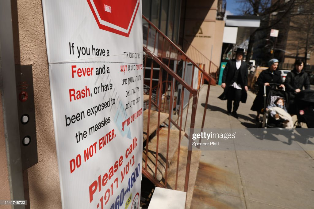 Mayor De Blasio Declares Public Health Emergency In Parts Of Williamsburg For Measles Outbreak : News Photo