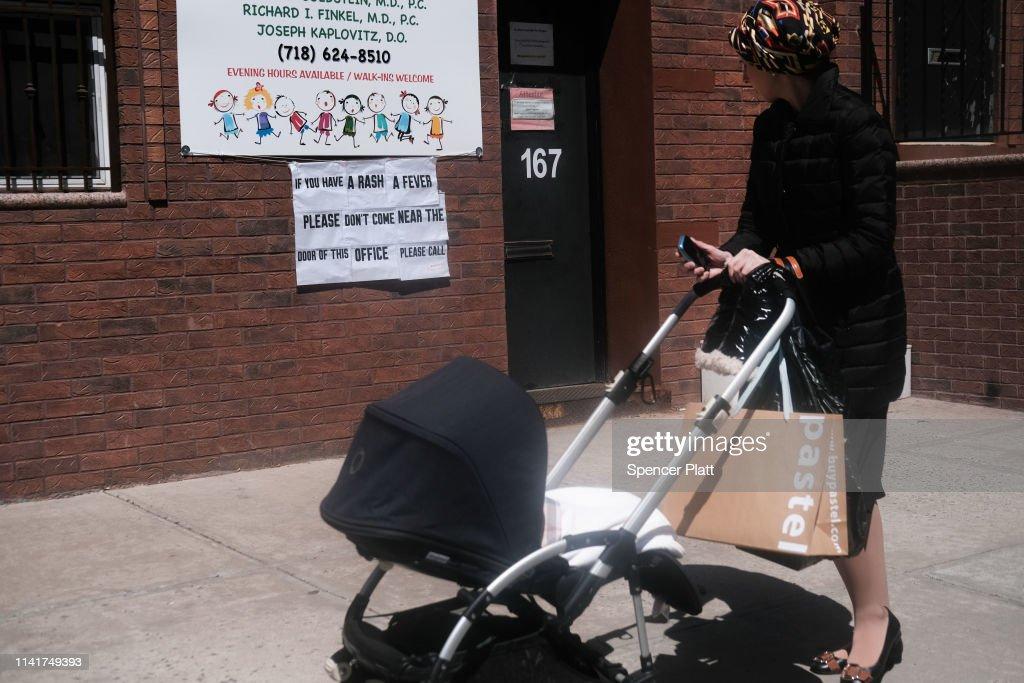 Mayor De Blasio Declares Public Health Emergency In Parts Of Williamsburg For Measles Outbreak : News Photo