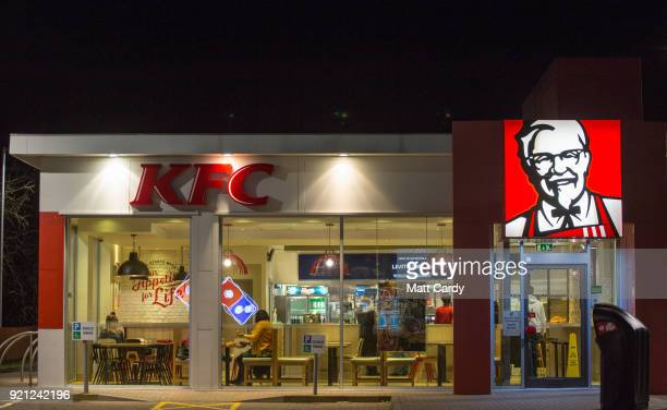 A Sign Warns That Limited Menu Is Being Operated At Branch Of Kfc