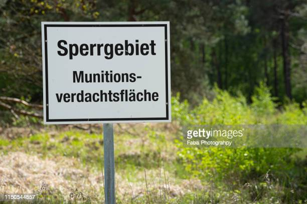 A Sign Warns Visitors About Ammunition (German)