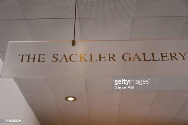 Sign welcomes visitors to the Sackler Wing at the Metropolitan Museum of Art on March 28, 2019 in New York City. Joining a growing list of state and...