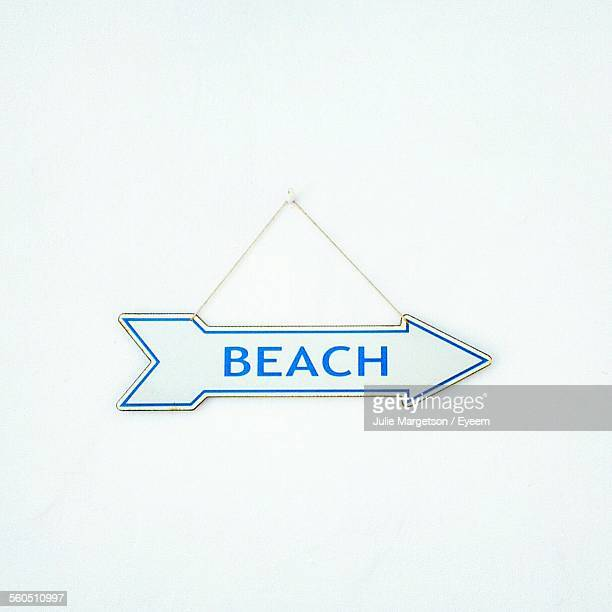 Sign With Directions To Beach