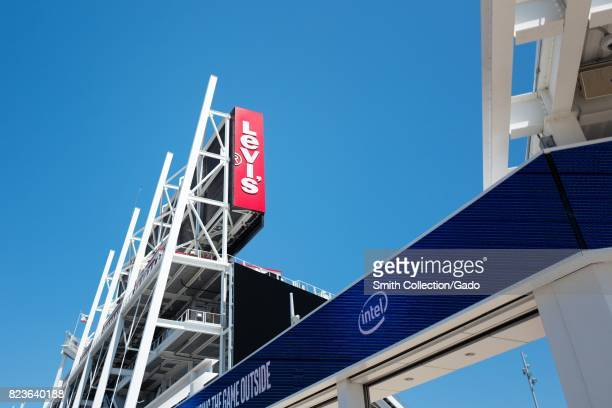 LED sign with Intel logo at Levi's Stadium home to the San Francisco 49ers football team in the Silicon Valley town of Santa Clara California July 25...