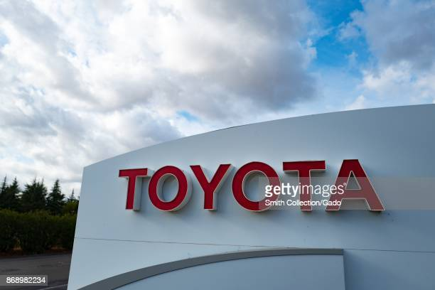 Sign with logo for the automotive company Toyota in the Bishop Ranch office park in San Ramon California October 20 2017