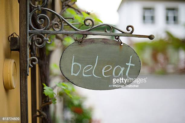 A sign with the words 'occupied' is attached to a holiday apartment on October 02 2016 in Pirna Germany