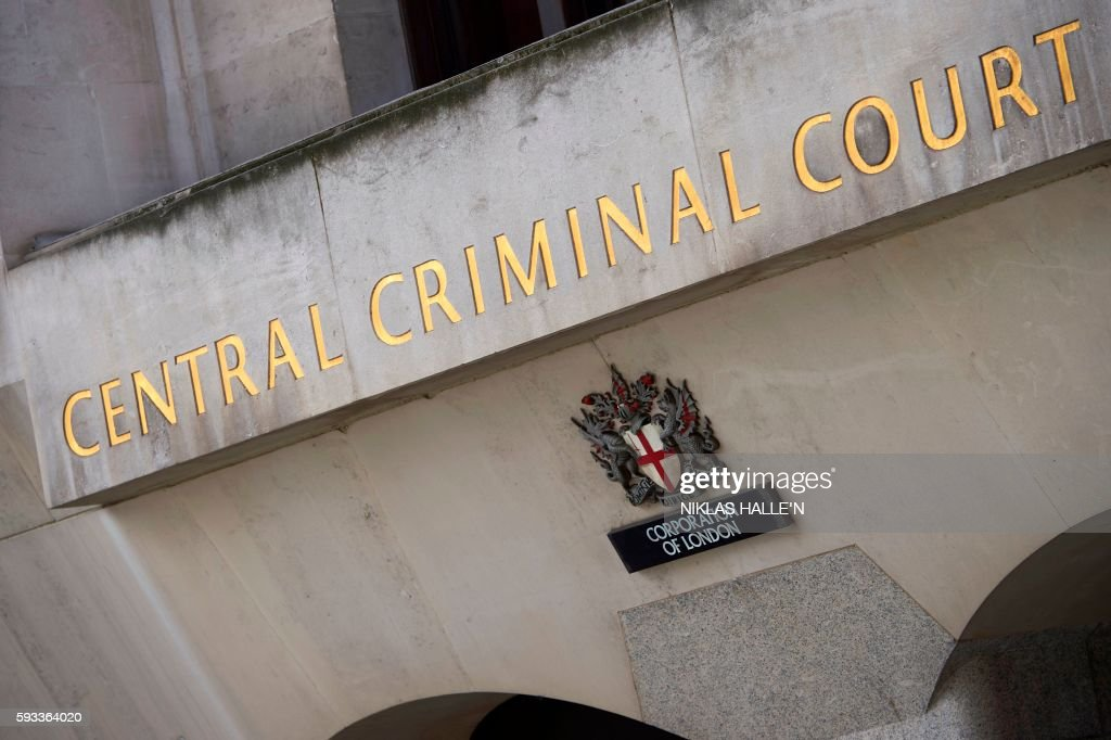 Signage And The Coat Of Arms Of The City Of London Are Pictured On A Wall  Outside The South Block Extension Of The Central Criminal Court, Commonly  Referred ...