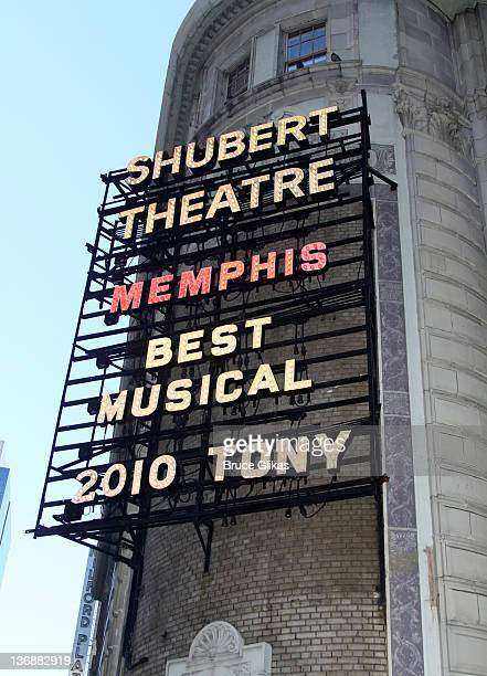 Signage at a special performance of Memphis for Inspire Change presented by Audemars Piguet The Tony Awards Broadway Cares at Shubert Theatre on...