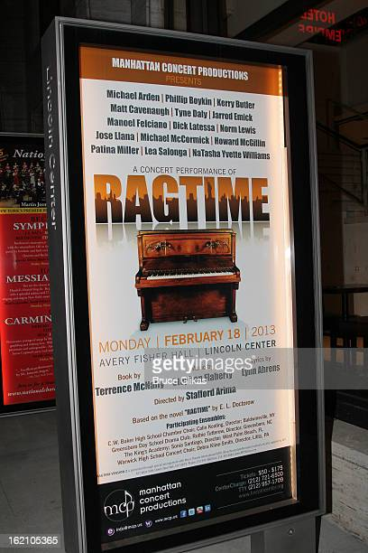 Signage at Ragtime on Broadway at Avery Fisher Hall on February 18 2013 in New York City