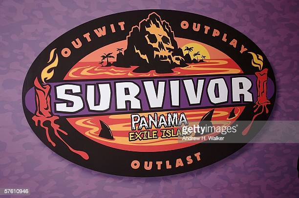 Signage at the CBS Presentation of Survivor Panama Exile Island Finale/Reunion Show on May 14, 2006 in New York City.