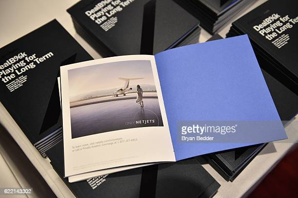 Signage at The New York Times DealBook Conference at Jazz at Lincoln Center on November 10, 2016 in New York City.