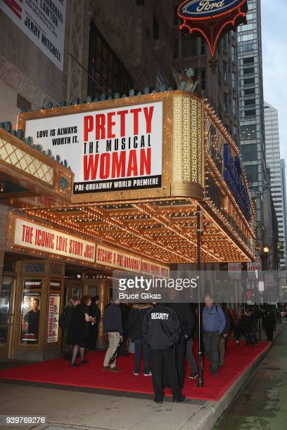 Signage at The Opening Night of the Broadway bound musical based on the iconic film Pretty Woman at The Oriental Theatre on March 28 2018 in Chicago...