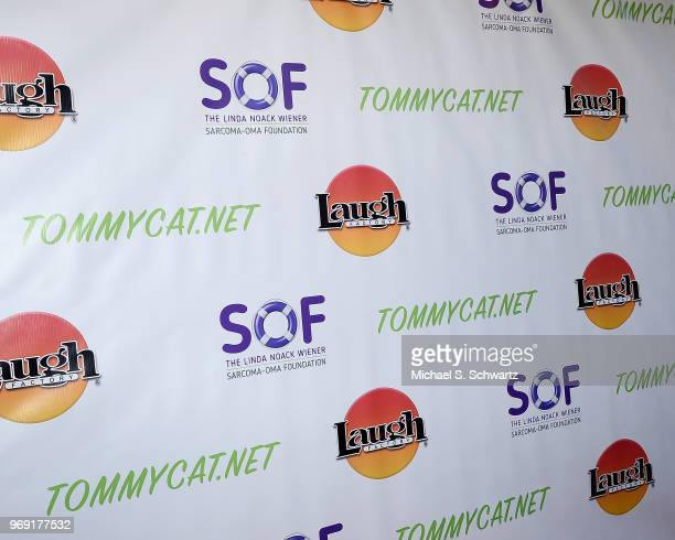 Signage at the SarcomaOma Foundation Comedy Benefit at The Laugh Factory on June 6 2018 in West Hollywood California