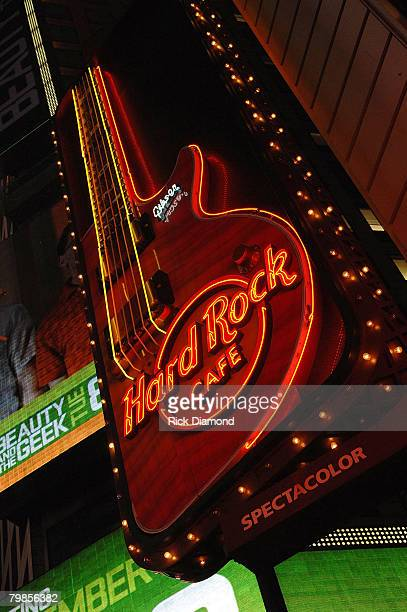 Signage at the The Launch of the Sustainable Biodiesel Alliance at the Hard Rock Cafe in New York City on September 102007