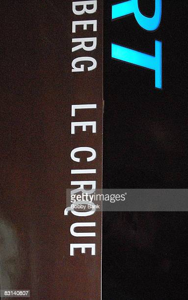 Signage detail outside Le Cirque Restaurant venue for the wedding of Howard Stern and Beth Ostrosky at Le Cirque on October 3 2008 in New York City