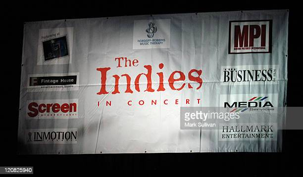 Signage during 2004 American Film Market Indies Benefit Concert at Avalon in Hollywood, California, United States.